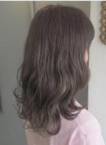 ラベンダーアッシュ(髪型セミロング)