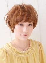 愛され佐藤栞里風マッシュショート (髪型ショートヘア)