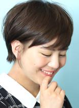 小顔に見えるショートヘアー☆(髪型ショートヘア)