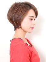 美シルエット☆大人の前下がりショートボブ