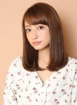 清楚なツヤ髪セミディ(髪型ミディアム)