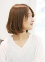 大人女子のふんわりボブ(髪型ボブ)