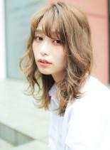 ダメージレスダブルカラー(髪型セミロング)