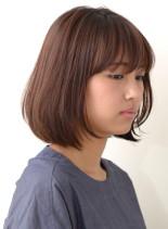 大人ナチュラルボブ(髪型ボブ)