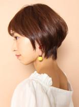大人のフレンチマッシュ(髪型ショートヘア)