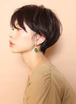 大人の美シルエットショート(髪型ショートヘア)