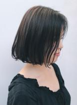 抜け感アッシュシンプルボブ(髪型ボブ)