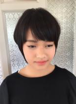 ショートボブスタイル(髪型ショートヘア)
