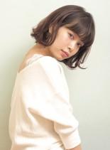 ニュアンスパーマ*秋色ピンクブラウン(髪型ボブ)