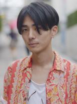 爽やかツーブロック・センターパート(髪型メンズ)