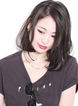 カット + リクルートブラウン(髪型ボブ)