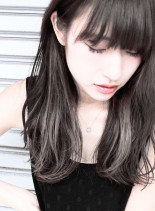 カット + シークレットグラデーション(髪型ロング)