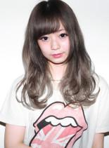 トリプルグラデーションホワイトグレージュ(髪型ロング)
