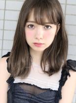 ファストブリーチ+ホワイトグレージュ (髪型ミディアム)