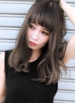 ブリーチ×1 + ヨーロピアングレージュ(髪型セミロング)