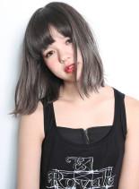 カット + トリプルグラデーション(髪型ミディアム)