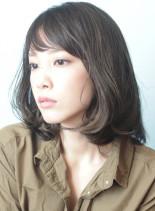 透明感のある綺麗なミディアムヘアー☆☆(髪型ミディアム)