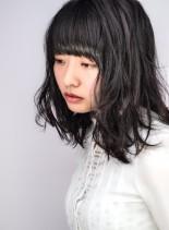 【20代30代】ツヤセミディ(髪型ミディアム)