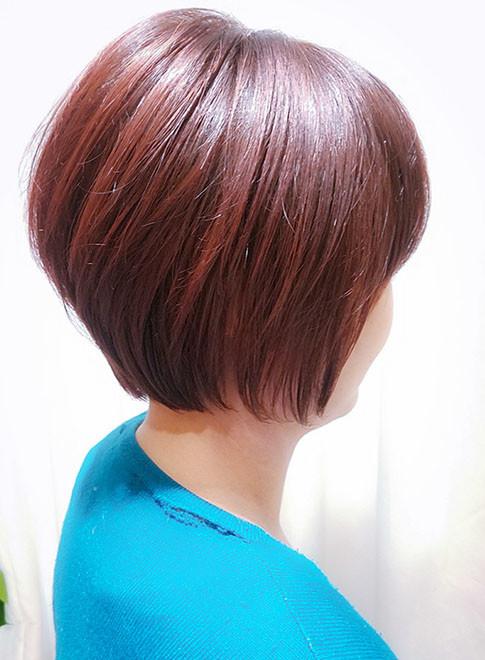 ショートヘア 40代 美肌に見える暖色カラーのショート Virgoの髪型