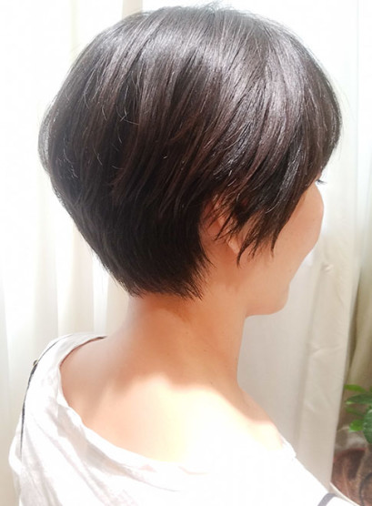 40代 どこから見てもキレイなショート(髪型ショートヘア)