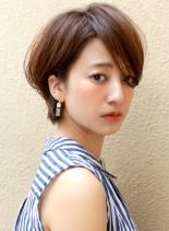 美シルエット☆大人のショートボブ(髪型ショートヘア)
