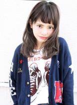 カット + ファストブリーチ(髪型セミロング)