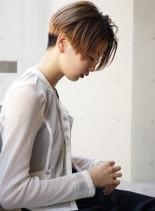 シンプル×モードなショートボブ(髪型ショートヘア)