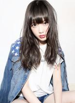 ダークブリーチ + ホワイトチャコール(髪型ロング)