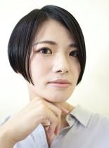大人黒髮ショート(髪型ショートヘア)