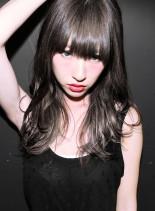ブリーチ+外国人風グラデーションカラー(髪型ロング)