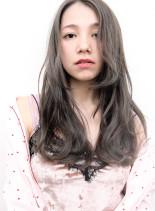 ブリーチ×1 + ヨーロピアングレージュ(髪型ロング)