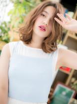 フェミニン×クールミディ(髪型ミディアム)