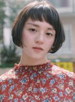 ショートボブ×ショートバング(髪型ショートヘア)