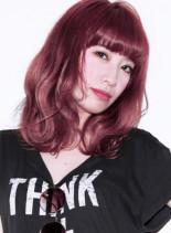 選べるブリーチ+ベリー系(髪型ミディアム)