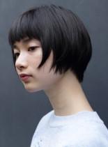 黒髪ショートボブ(髪型ショートヘア)