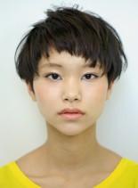ザクザクブツブツ前髪のベリーショート(髪型ベリーショート)