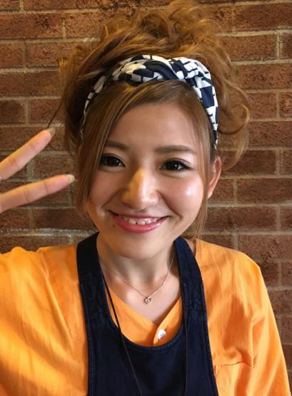 お祭りヘア(髪型セミロング)