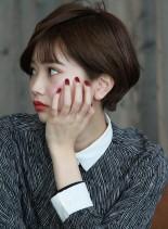 大人可愛い☆美シルエットボブ(髪型ショートヘア)