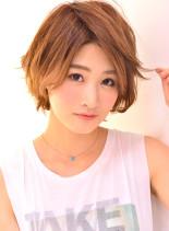 大人可愛い☆ガーリーマッシュボブ(髪型ショートヘア)