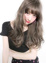 ファストブリーチ+ホワイトグレージュ (髪型ロング)