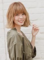 伸ばしかけロブハイトーンスタイル(髪型ボブ)