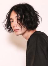 ミディアムラフスパイラルパーマ(髪型メンズ)