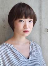 ナチュラルマッシュショート(髪型ショートヘア)