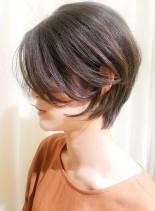 30代40代ひし形の大人ショートボブ(髪型ショートヘア)