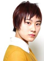 ザクザクな短い前髪の前下がりのショート(髪型ショートヘア)