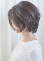 40代50代手入れ簡単くびれショートボブ(髪型ショートヘア)