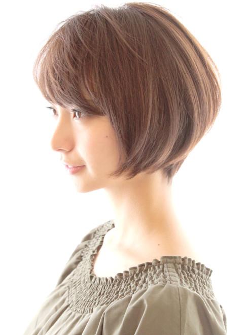 30代40代に人気ひし形ショートボブ(髪型ショートヘア)(ビューティー