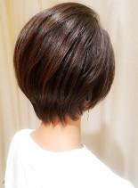 30代40代◎横顔がキレイなショートボブ(髪型ショートヘア)