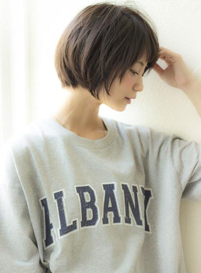 人気、女性らしい丸みのあるショートボブ☆(髪型ショートヘア)