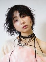 外国人風クセ毛ショート(髪型ショートヘア)